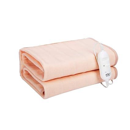 Manta eléctrica, individual, impermeable y seguro, ajuste de temperatura, dormitorio para estudiantes