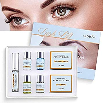 Eyelash Perm Kit, Professional Quality Lash Lift, Semi-Permanent Curling Perming Wave, Lotion Liquid Set