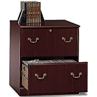 Bush 28 Lateral File Cabinet Dimensions: 30 1/2H X 26 7/8W X 19 3/8D Perfect For Legal/Medical Office - Harvest Cherry