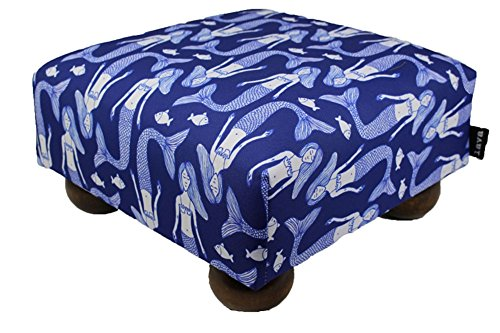 lava Mermaid Song Footstool 15x15 47417-999 by Lava Pillows