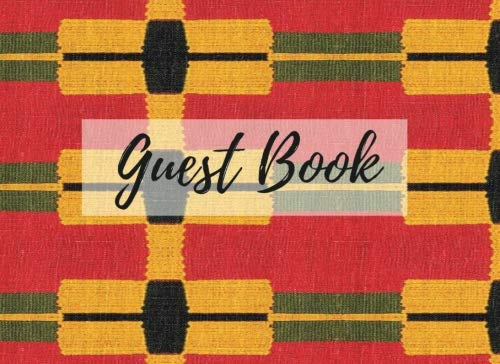 Search : Guest Book: (African Fabric (11), Event Guest Book, For Events, Anniversary, Retirement Party, Wedding, Birthday,101 pages - [Professional Binding]