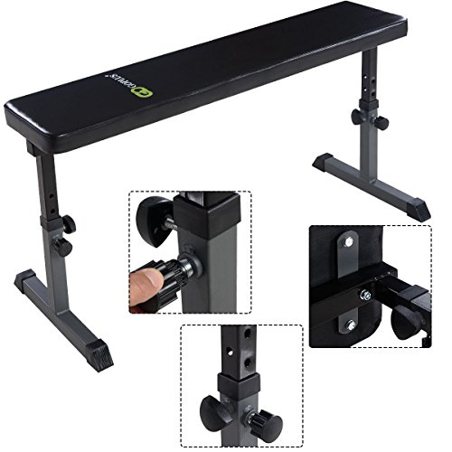 Adjustable Sit Up Bench Flat Crunch Board AB Abdominal Fitness Strength by Brand New