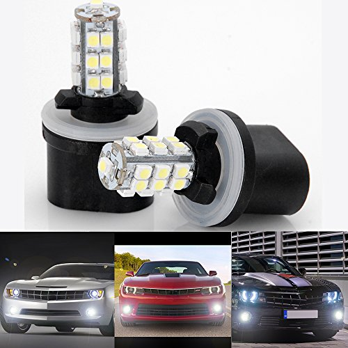 6000K Xenon White 25-SMD 880 890 LED Fog Driving Daytime Running Light Bulb For Ford Dodge Cadillac Benz Audi Honda 2 pcs