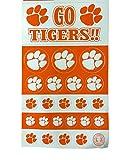 Clemson Tigers NCAA Logo Sticker Sheet