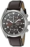 Seiko Men's SNN241 Stainless Steel Watch with Brown Leather B