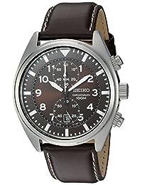 Seiko SNN241 Reloj marrón de pantalla análoga y cuarzo japonés, para hombre
