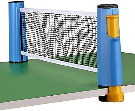 HomeYoo - Red de tenis de mesa retráctil portátil para jugar en interiores, 1,8 m, para mesas de hasta 5,0 cm