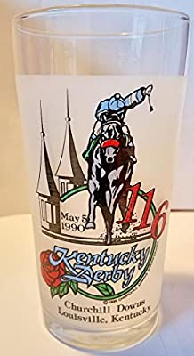 Kentucky Derby Official 116th Julep Derby Glass 1990 -- Churchill Downs