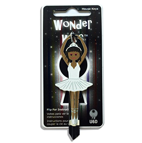 White Dress Ballerina Shaped Wonder Key Universal U6D (Europe) Universal Ballerina