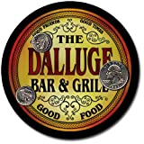 Dalluge Family Bar and Grill Patriotic Rubber Drink Coaster Set