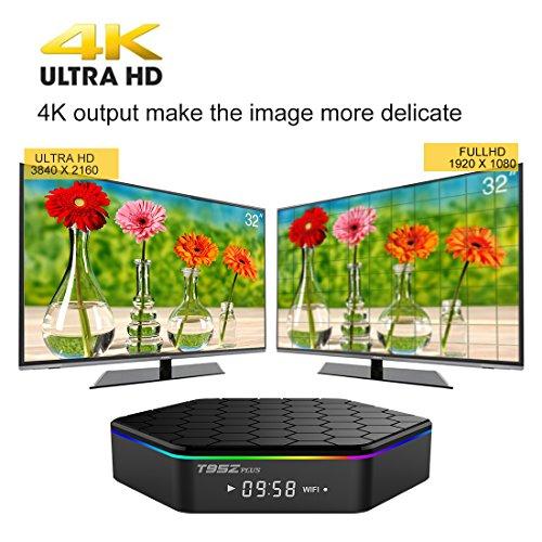 IVSUN T95Z PLUS Android 7.1 TV BOX, Amlogic S912 Octa Core 2GB RAM 16GB ROM Support Dual WiFi 2.4G/5GHz 1000M LAN BT 4.0 UHD 4K 3D Smart TV Boxes with Mini Wireless Keyboard (BACKLIT) by IVSUN (Image #4)