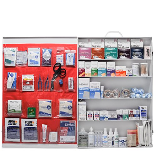 Workplace OSHA Approved First Aid Kit 5 Shelf Deluxe by - First Aid 5 Shelf