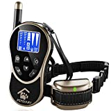 Cheap PETDIARY Remote Dog Static Shock Training Collar 1970Ft Long Range with Beep/Light/Vibration/Static Shock, Waterproof, Rechargeable, Dogs 10Lbs to 100Lbs with Neck Sizes of 8.5-25 inches