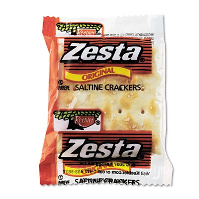Keebler Products - Saltine Crackers, 2/PK, 300PK/CT - Sold as 1 CT - Saltine crackers are perfect for snacking or with salad and soup. Each packet contains two original baked Zesta crackers. by Keebler