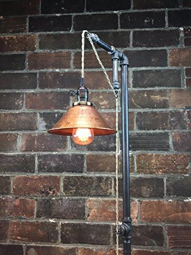 Industrial Make Floor Lamp - Pendant Edison Bulb - Copper Shade
