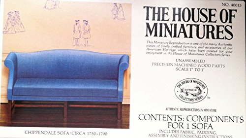 Dollhouse Furniture Kit- Chippendale Sofa Circa 1750-1790 40015 The House of Miniatures