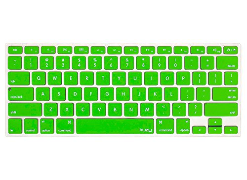 Kuzy - GREEN Keyboard Silicone Cover Skin for MacBook Pro 13