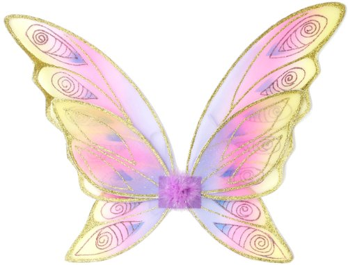 Great Pretenders Glitter Rainbow Wings, Multi (One Size) -