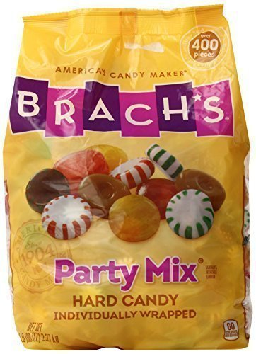 Brach's Party Mix Individually Wrapped Hard Candies, 5lb Bulk Candy Bag (Brachs Chocolate Stars)