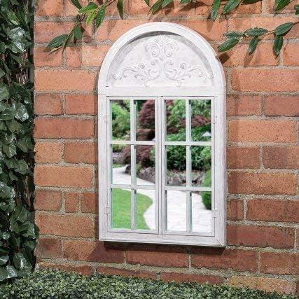 A2Z Home Solutions - Espejo de Pared de jardín con Arco para Puerta de persiana Elegante para Uso en Interiores y Exteriores: Amazon.es: Jardín