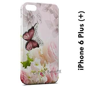 Carcasa Funda iPhone 6 Plus (iPhone 6+) Flowers & Butterflies 2 Protectora Case Cover