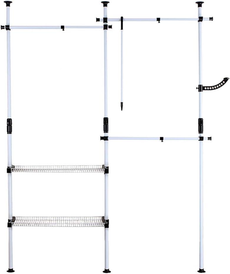 LVZAIXI 強化鋼鉄フレームシンプルなワードローブ折りたたみコンビネーションワードローブオープンクロークルームトップヘブンリーストレージキャビネット