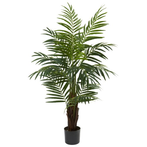 Nearly Natural 5415 Areca Palm Tree, 4-Feet, Green