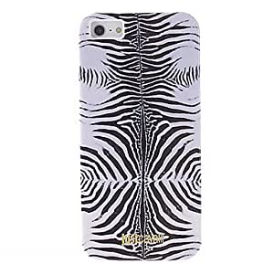 DUR Fashionable Zebra Print Pattern Smooth Anti-shock Case for iPhone 5/5S