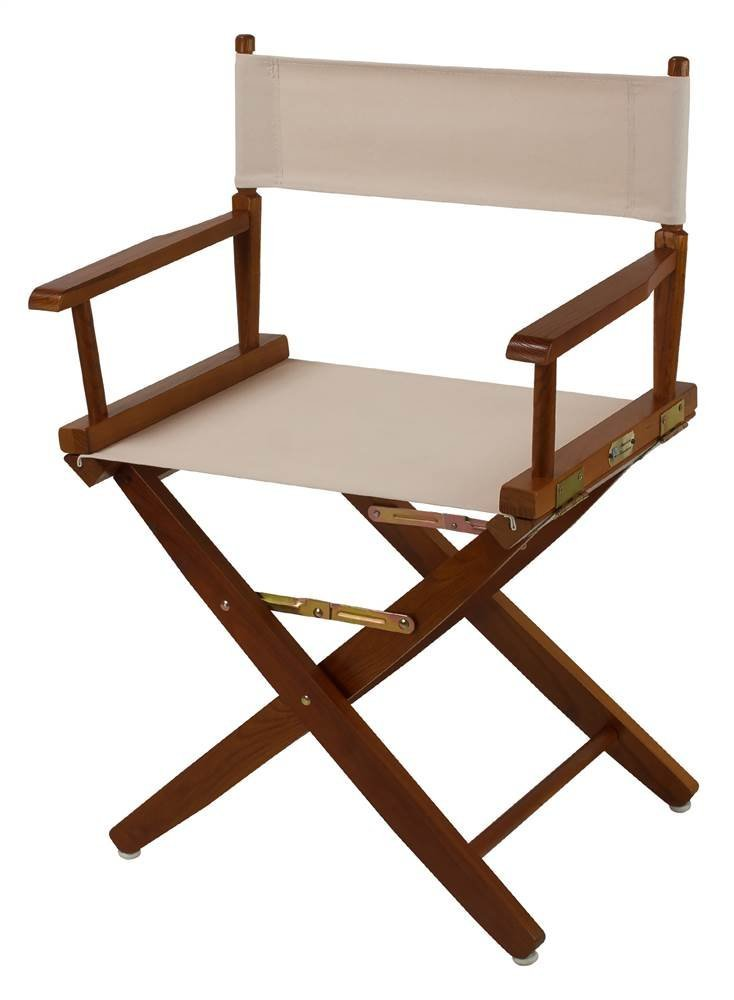 Casual Home Extra-Wide Mission Oak Frame Directors Chair