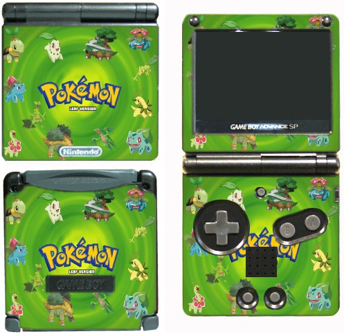 Pokemon Leaf Green Bulbasaur Go Video Game Vinyl Decal Skin Sticker Cover for Nintendo GBA SP Gameboy Advance System