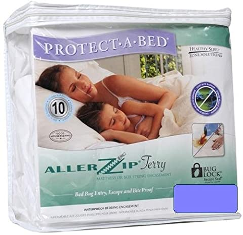 AllerZip Waterproof Bed Bug Proof Zippered Bedding Encasement, Full DEEP Size (Fits 12 - 18 in. H) - Allerzip Waterproof Bed Bug