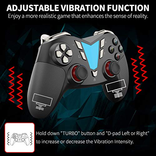 IFYOO ONE Wireless Bluetooth Pro Controller for Nintendo Switch Rechargeable Enhanced Vibration Gamepad Switch Gaming Remote Pro Controller Gamepads - [Black&Silver]