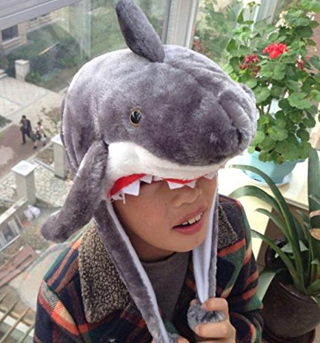 Goodscene Party decoration accessories Cartoon Plush Shark Short Hat Animal Tiara (Gray) by Goodscene