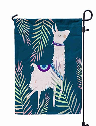 Shorping Welcome Garden Flag, 12x18Inch Alpaca Perfect Wallpapers Web Page Backgrounds Surface Textile Textures for Holiday and Seasonal Double-Sided Printing Yards Flags