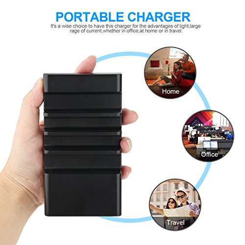 USB 4 Port Charging Station, Organizer for Multiple Devices Smart Compact Desktop Universal Phone Charger Station - Compatible with Smartphone   Cables Included