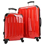 Swiss Case 28'' Spinner RED Suitcase + FREE Carry-on luggage set (Certified Refurbished)