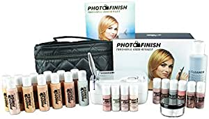 Photo Finish Professional Airbrush Cosmetic Makeup System Kit/Fair to Medium Shades (Deluxe Luminous Finish)