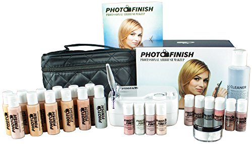 Photo Finish Professional Airbrush Cosmetic Makeup Deluxe System Kit Master Set/Fair to Tan Shades (luminous Finish)