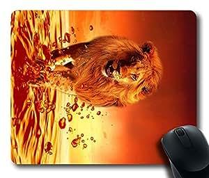 Design Red Lion Mouse Pad Desktop Laptop Mousepads Comfortable Office Mouse Pad Mat Cute Gaming Mouse Pad