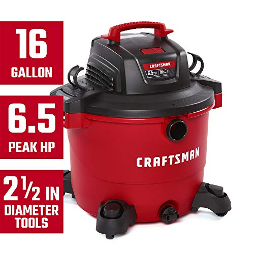 CRAFTSMAN CMXEVBE17595 16 Gallon 6.5 Peak HP Wet Dry Vac, Heavy-Duty Shop Vacuum with Attachments