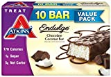Atkins Endulge Treats, Chocolate Coconut Bar, 1.4oz Bar, 10 Count
