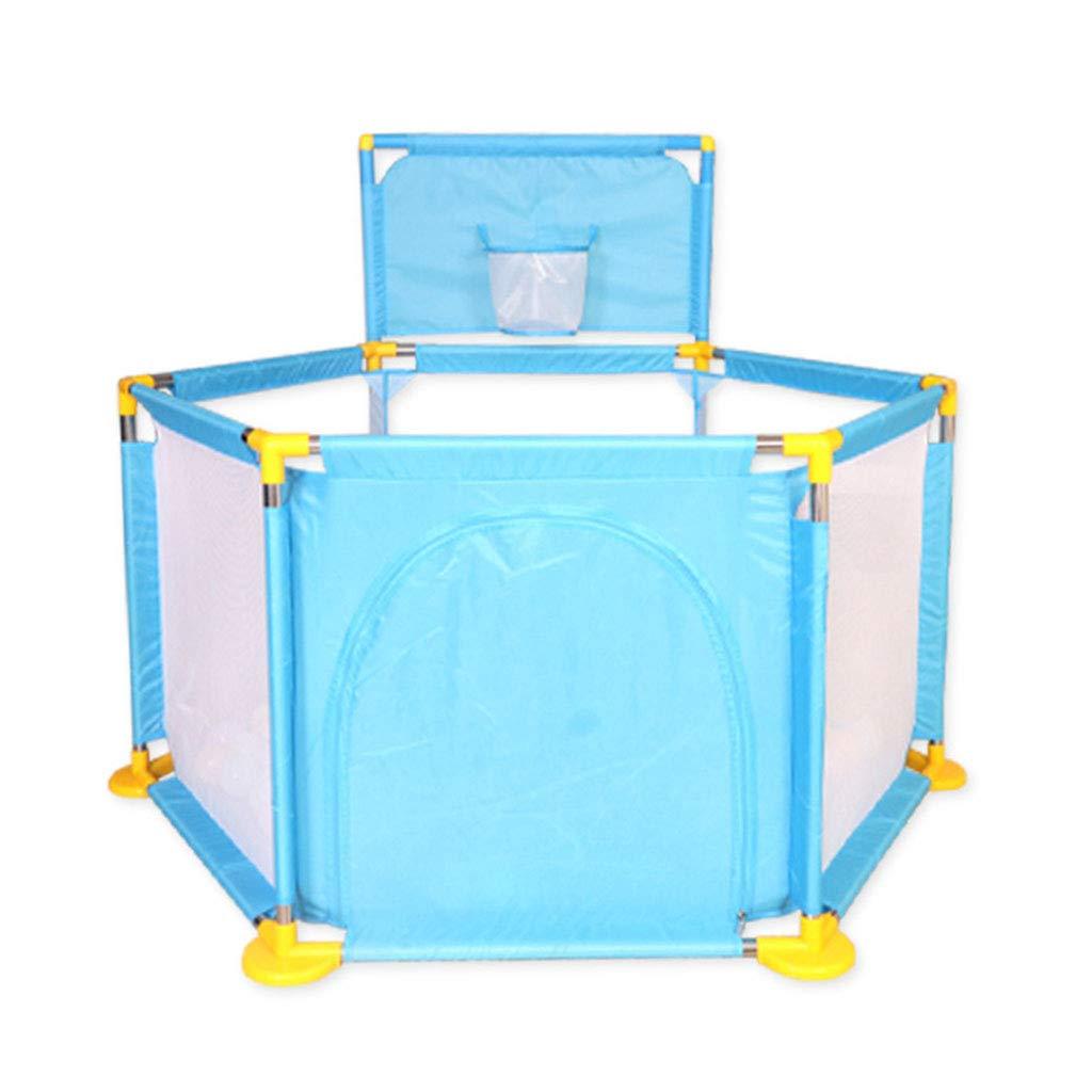 屋内保護ゲームプレイペン子供用プレイフェンスホームプレイエリア子供の遊び場子供のギフト (Color : Blue, Size : 128x128x66cm) 128x128x66cm Blue B07MGLVD2Q