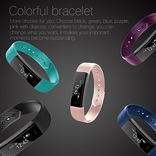 Fitness Tracker, LETSCOM Fitness Tracker Watch with Slim Touch Screen and Wristbands, Wearable Activity Tracker as Pedometer Sleep Monitor for Android and Ios