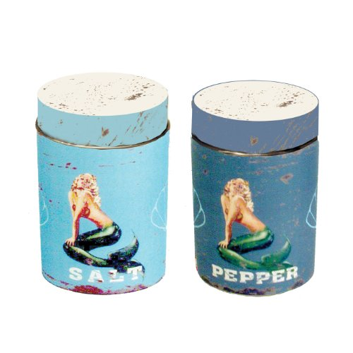 (Ohio Wholesale 38752 Water Collection Mermaid Salt and Pepper Set, Set of 2)