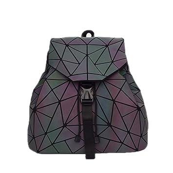 Cordón Geometría Luminosa Mochilas Plegables Bolsas Hembras Bolsas Escolares pequeñas para Adolescentes Big A: Amazon.es: Equipaje
