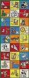 Kids Children 2.5' X 7' Educational Animal Themed Play Abc Rug Runner Non Skid