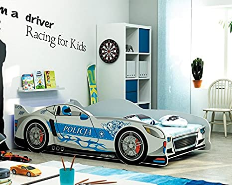 Letto A Forma Di Macchina Fai Da Te : Letto singolo a forma di macchina cars160x80 lettino per bambini e