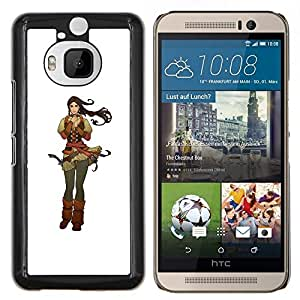 Be-Star Único Patrón Plástico Duro Fundas Cover Cubre Hard Case Cover Para HTC One M9+ / M9 Plus (Not M9) ( Capelli castani )