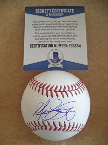 GIO GONZALEZ WASHINGTON NATIONALS SIGNED AUTO M.L. BASEBALL BECKETT E33264