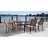 New - Mainstays Sand Dune 7-Piece Patio Dining Set, Seats 6 - Quality. Only here.